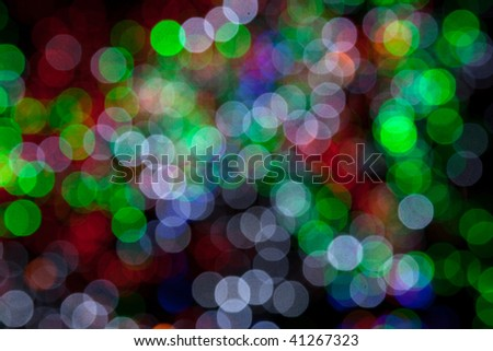 holiday background Defocused red,yellow,green lights