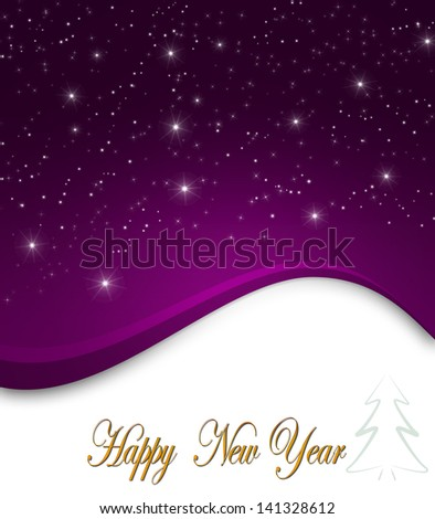 Holiday background for New Year with stars   - stock photo
