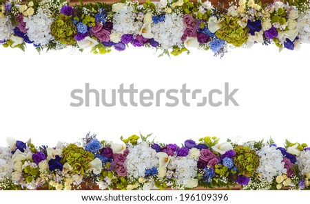 Holiday background greeting card and flowers - stock photo