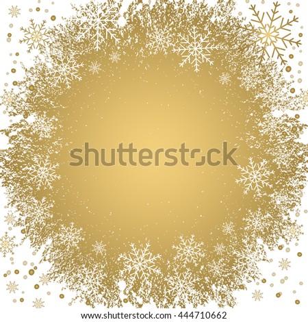 Holiday background, snowflake pattern, Christmas Decoration. - stock photo