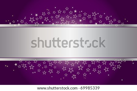 Holiday background with banner and stars. The similar image in my portfolio in vector format.