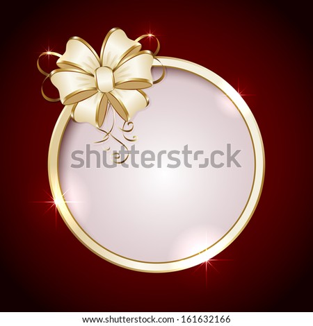 Holiday background with Round and bow, illustration. - stock photo
