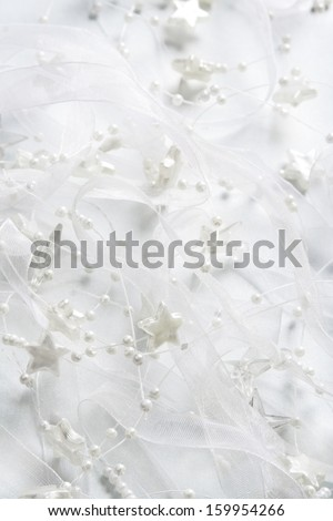 Holiday background with silver stars - stock photo
