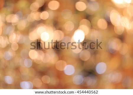 Holiday blurred bokeh background. Christmas background. Horizontal. Warm beige tone with light green - stock photo