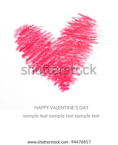 Holiday Card for Valentines day - stock photo