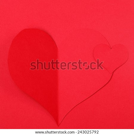 Holiday Card. Heart from paper Valentines day - stock photo