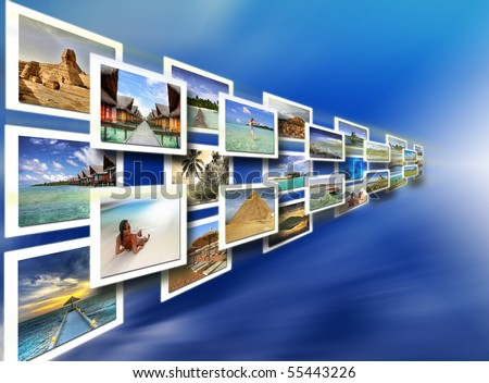 Holiday choice - all pictures are coming from my gallery - stock photo