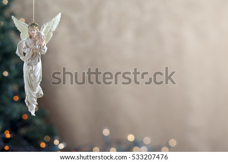 Holiday christmas background with angel