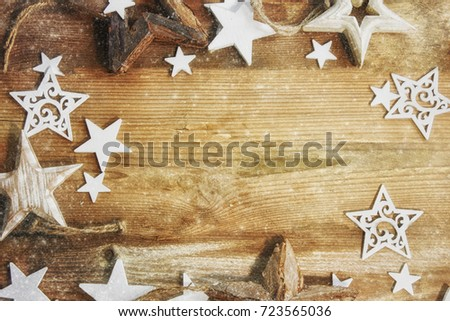 Holiday Christmas background with stars