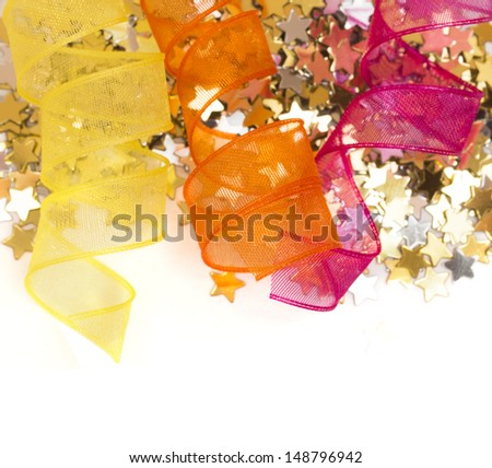 holiday decoration with place for the text - stock photo