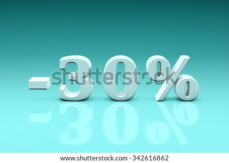 Holiday discounts for the goods and services. The 3d image (3000x4500px).