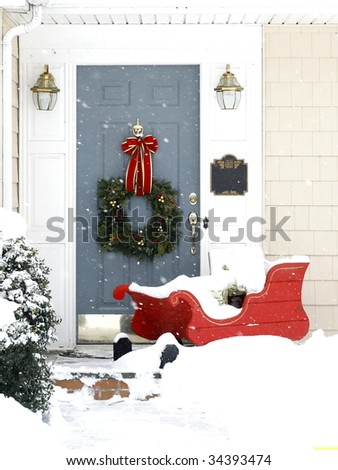 holiday entrance to home