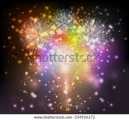 Holiday fireworks background