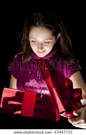 Holiday gift - stock photo
