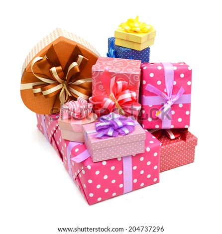 Holiday gift boxes collection  - stock photo