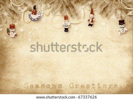 Holiday Greeting Card - stock photo