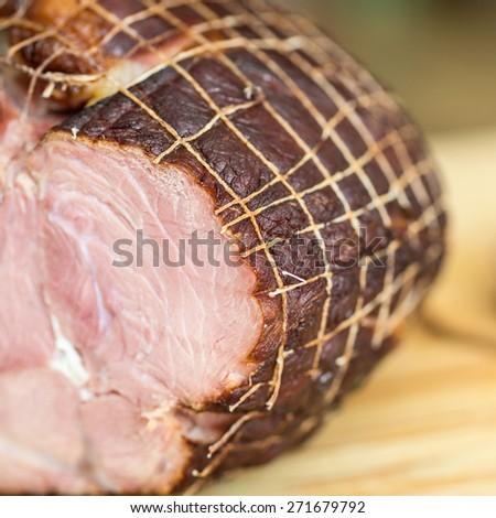 Holiday ham - stock photo