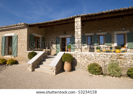 Holiday home in France - stock photo