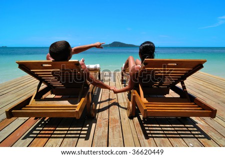 Holiday in Paradise - stock photo