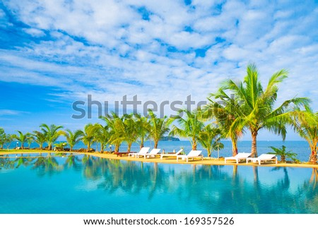 Holiday Lifestyle Swimming Space  - stock photo