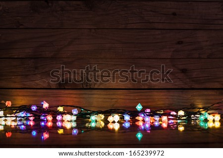 holiday lights background - stock photo
