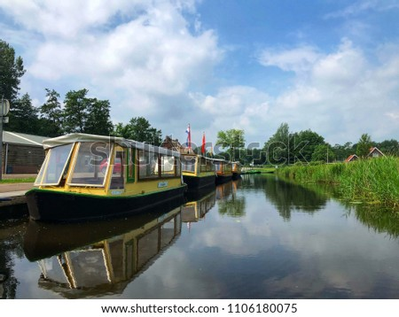 Holiday vacation europe giethoorn netherlands beautiful stock photo holiday or vacation in europe giethoorn netherlands is beautiful idea for greeting card from holland m4hsunfo