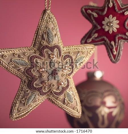Holiday ornaments. - stock photo