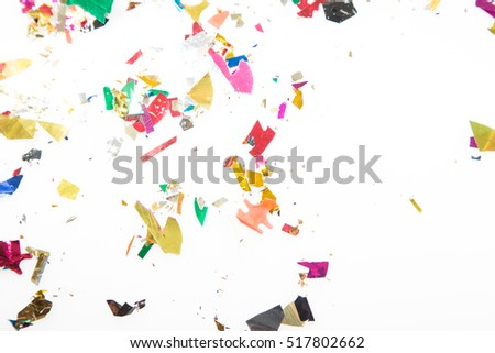Holiday paper  with color confetti