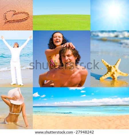 Holiday postcards - stock photo