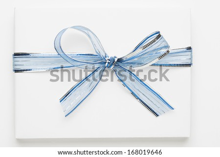 Holiday present/Christmas symbol. Holiday background. - stock photo