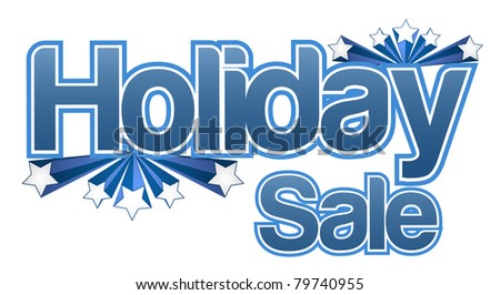 Holiday sale illustration design isolated over a white background