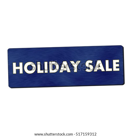 holiday sale white wording on blue wood background
