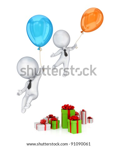 Holiday sales concept.Isolated on white background.3d rendered.