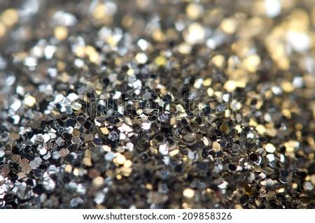 Holiday shiny blurry silver background. Macro   - stock photo