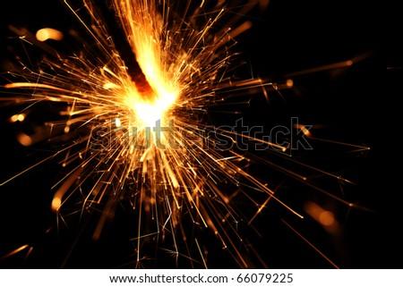 holiday sparkler - stock photo