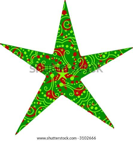 Holiday Star Design - stock photo