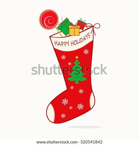 Holiday Stocking - Happy Holidays