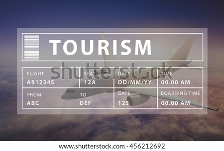 Holiday Travel Tourism Relaxation Graphic Concept - stock photo