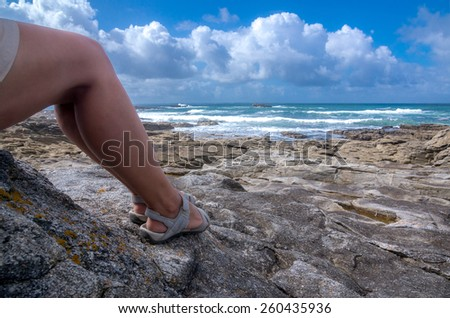 Holidays in Brittany - stock photo