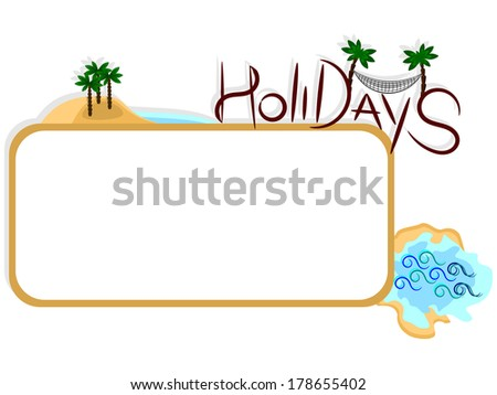Holidays label with space for your text, summer time - stock photo