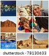 Holidays memories from Egypt - stock photo