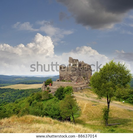 Hollók? Castle (Ravenstone Castle) was first mentioned in documents of the 13th century. Holloko - UNESCO World Heritage Site, Hungary - stock photo