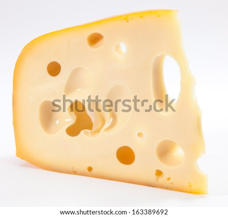 Holland gourmet Emmental cheese - stock photo