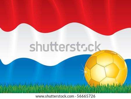 Holland soccer theme (vector at portfolio) - stock photo