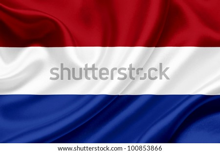 Holland  waving flag - stock photo