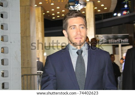 HOLLYWOOD - APRIL 1: Actor Jake Gyllenhaal at the premiere of the movie Source Code at the Cinerama Dome Theatre on March 28, 2011 Hollywood, CA.