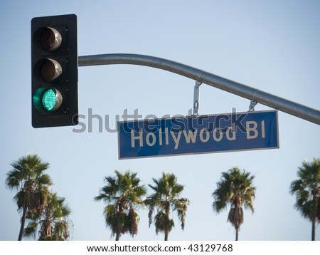 Hollywood Blvd Sign - stock photo