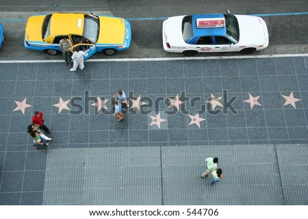Hollywood boulevard from above