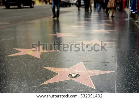 HOLLYWOOD, CA - DECEMBER 06: Quentin Tarantino star on the Hollywood Walk of Fame in Hollywood, California on Dec. 6, 2016.