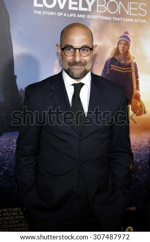 HOLLYWOOD, CA - DECEMBER 07, 2009: Stanley Tucci at the Los Angeles premiere of 'The Lovely Bones' held at the Grauman's Chinese Theater in Hollywood, USA on December 7, 2009. - stock photo